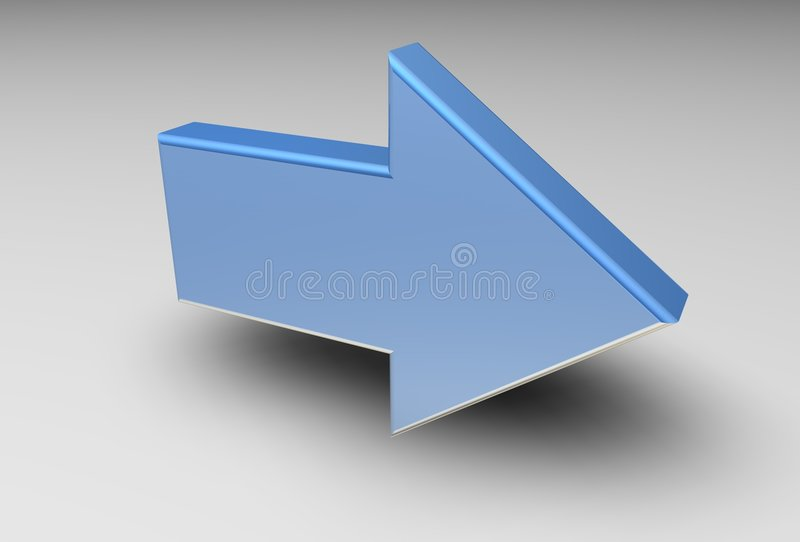 3D pijl stock illustratie