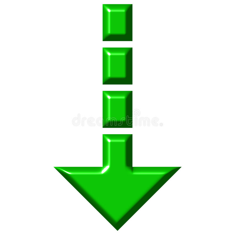3D Pijl van de Download stock illustratie