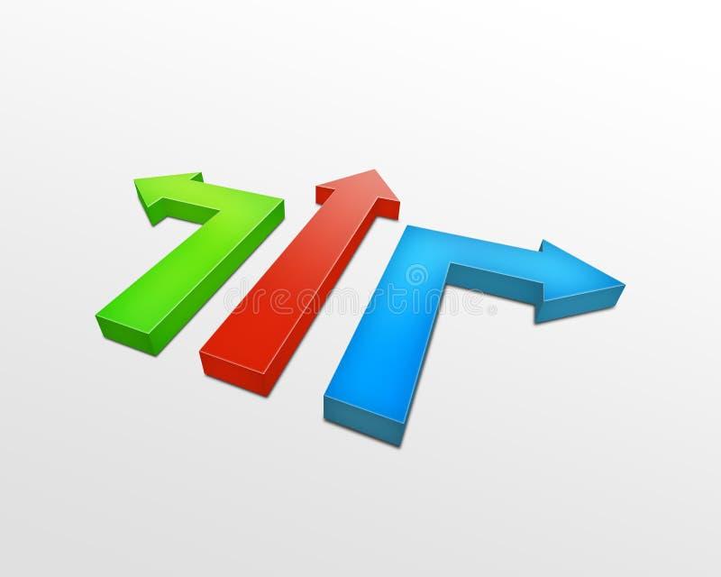 Download 3d pijlen stock illustratie. Illustratie bestaande uit toon - 10784038