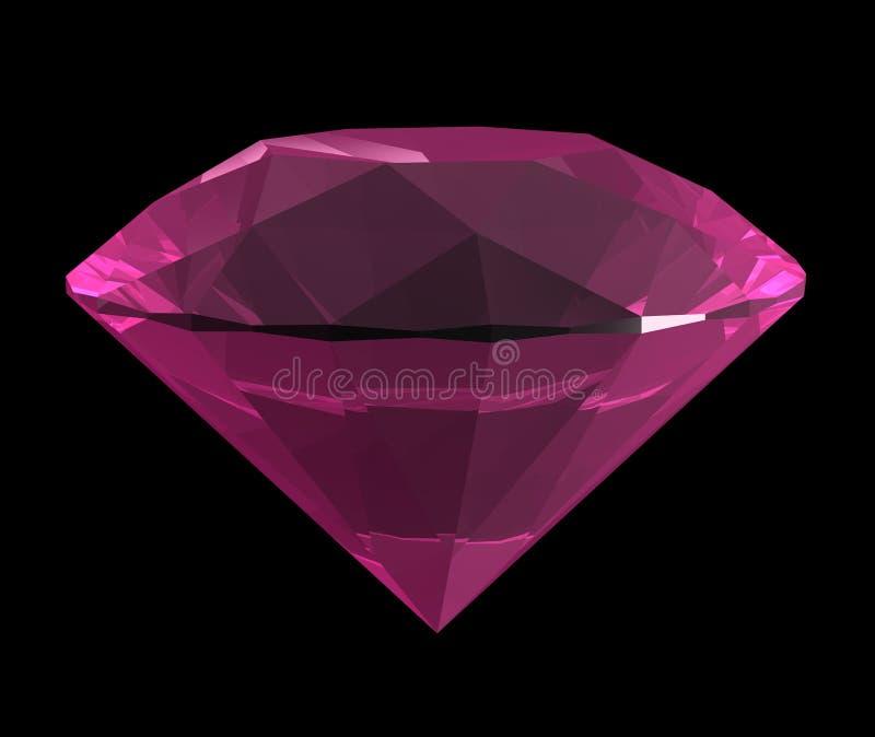 3d pink diamond vector illustration