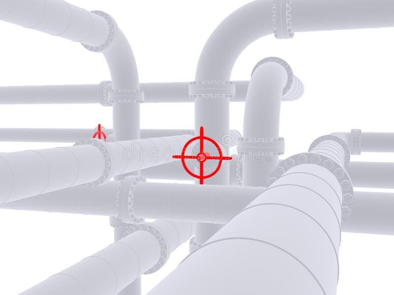 3d pipeline. 3d rendered illustration of a pipeline stock illustration