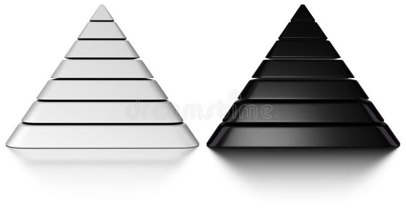 3d piramides royalty-vrije illustratie