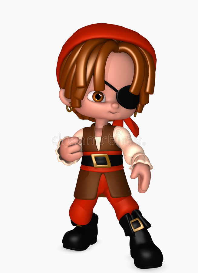 Download 3d pirate boy stock illustration. Image of marine, earring - 5567932