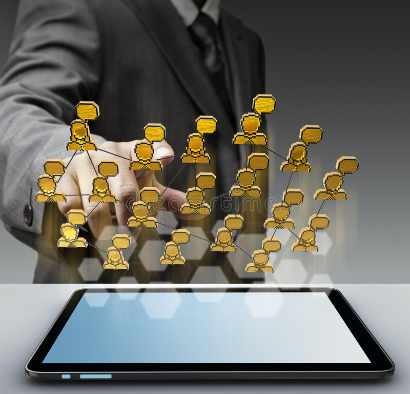 3d pixel social network icon stock images