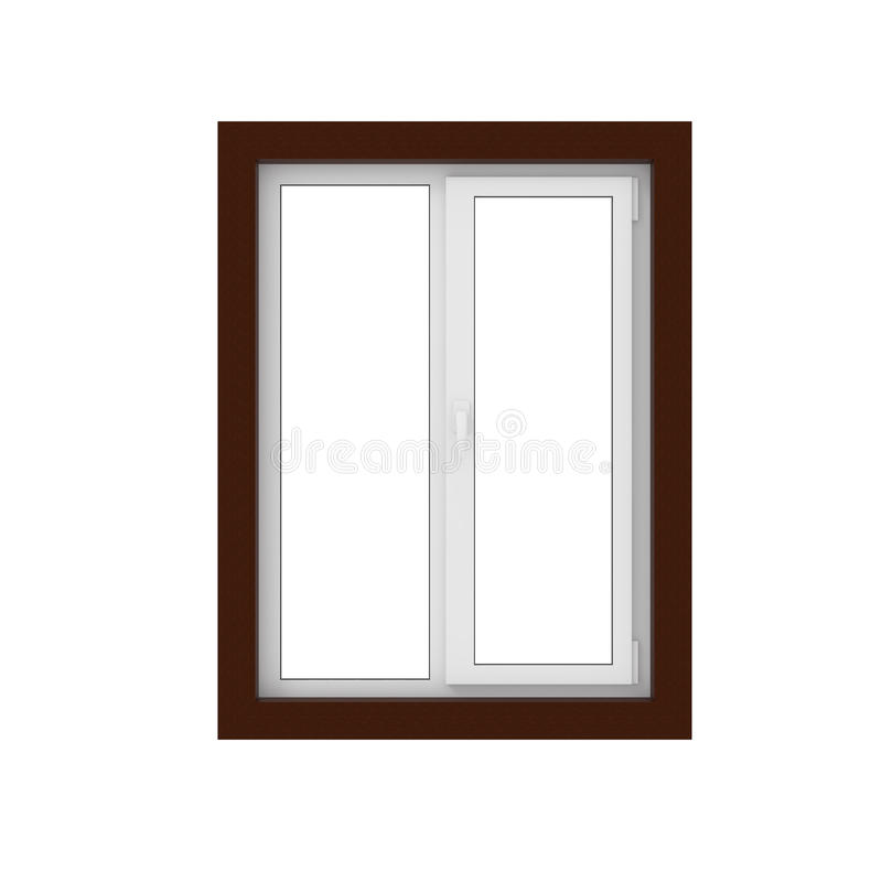 3d plastic glass window isolated on white royalty free illustration