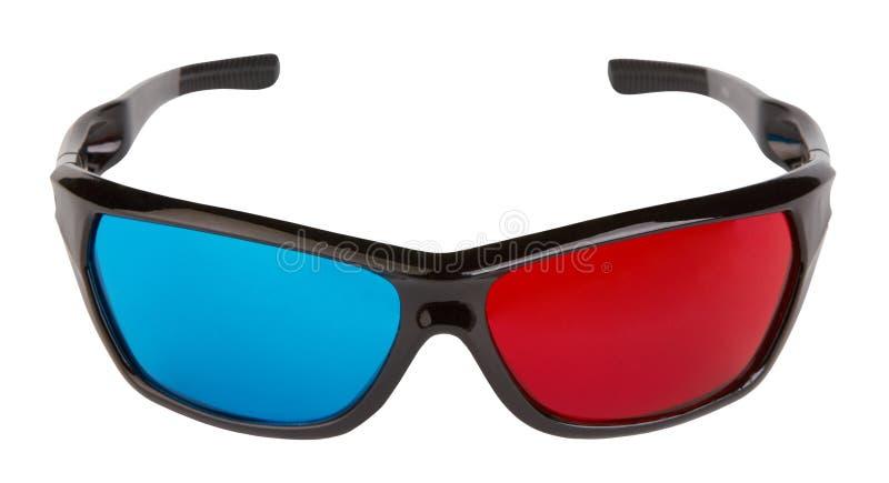 3d Plastic Glasses Royalty Free Stock Photos