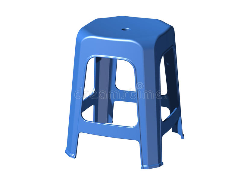 3D plastic stool chair royalty free illustration