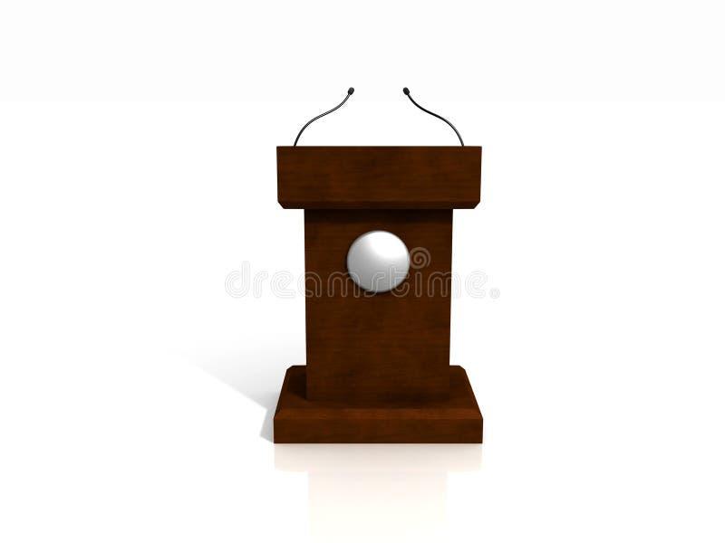 3d podium drewniany zdjęcie stock