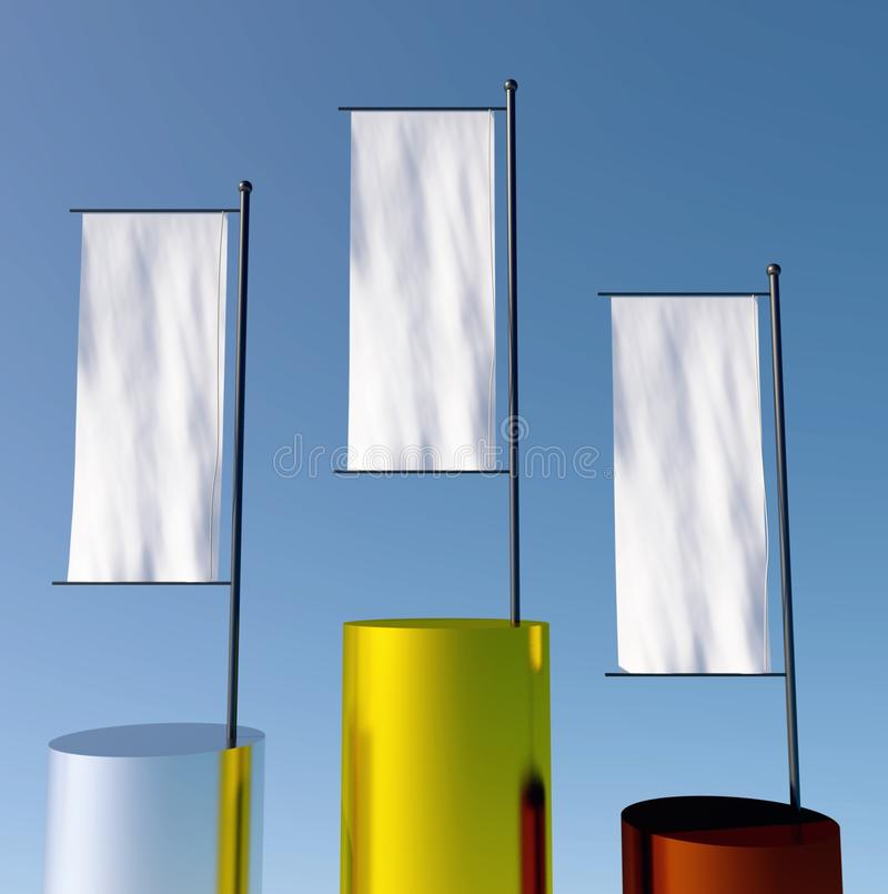 Download 3d podium with empty flags stock illustration. Image of aspirations - 24493345