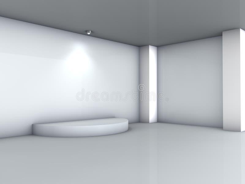 3d podium i światło reflektorów dla eksponata ilustracji