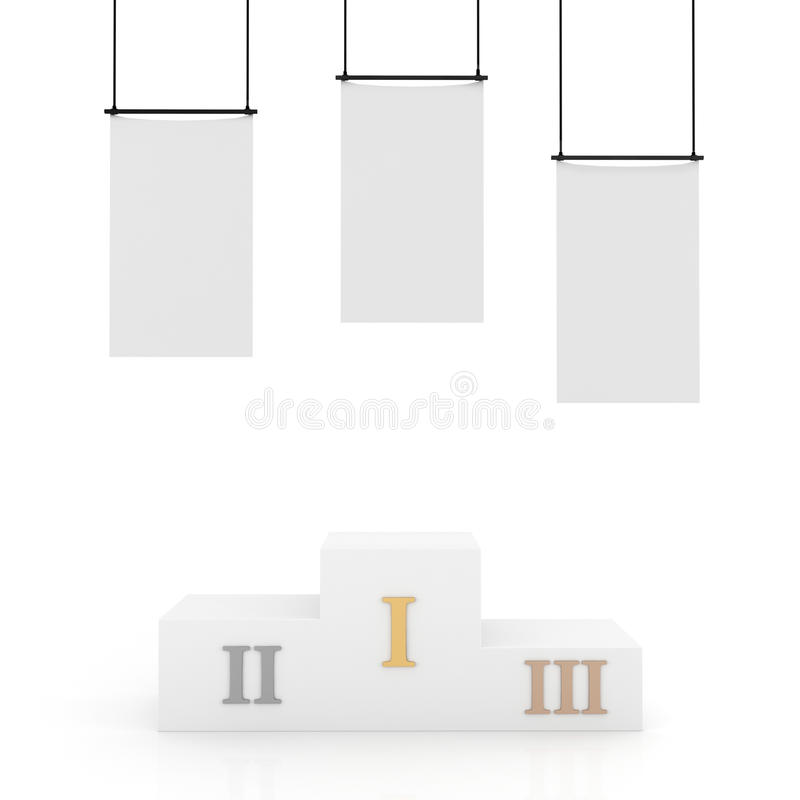Download 3d Podium, Isolated On White Stock Illustration - Image: 17453744