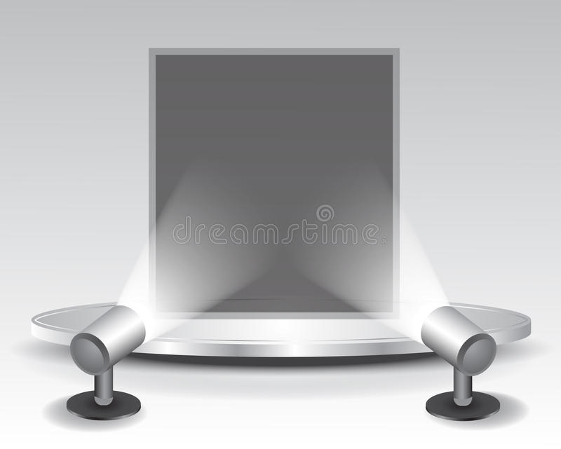 Download 3d podium with light stock vector. Image of platform - 23012335