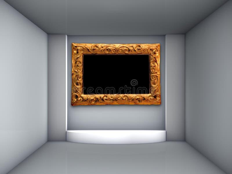 Download 3d Podium And Ornate Frame For Exhibit Stock Illustration - Image: 26475979