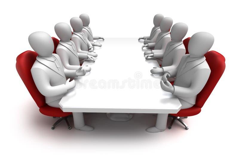 3d pojęcia biznesowy spotkanie ilustracja wektor