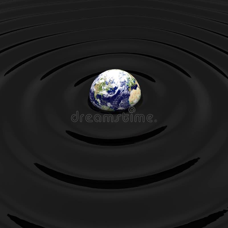 3d pojęcia ziemi olej zanieczyszczający odpłaca się ilustracja wektor