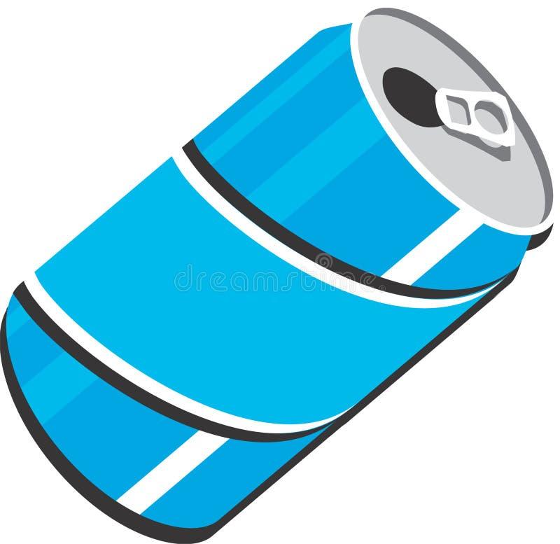 3D Pop Soda kan royalty-vrije illustratie