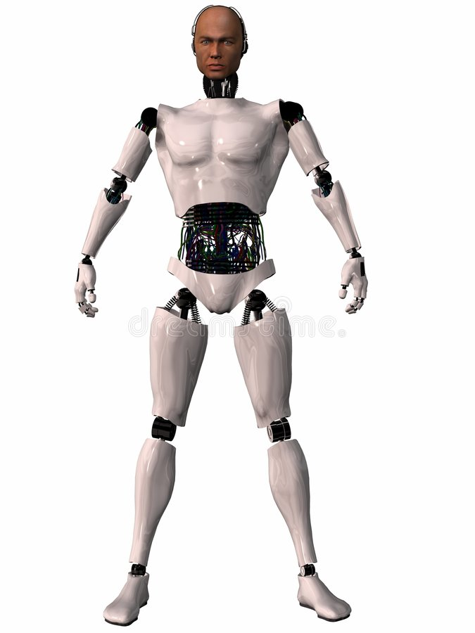 3d postać herobot ilustracja wektor
