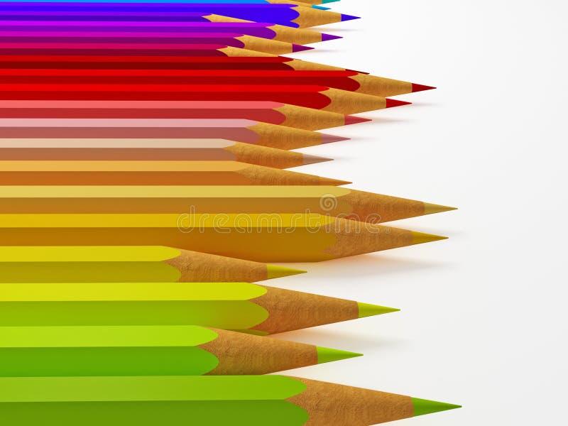 3d potlood vector illustratie