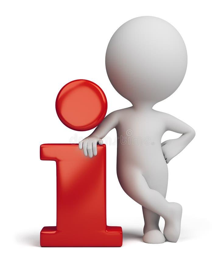 3d povos pequenos - ícone da informação ilustração do vetor