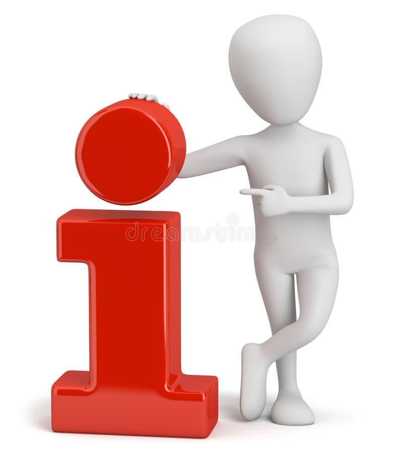 3d povos pequenos - ícone da informação. ilustração royalty free