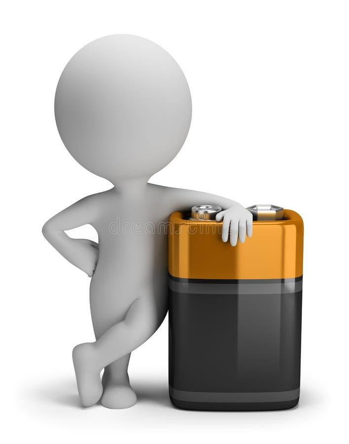 3d povos pequenos - bateria ilustração do vetor