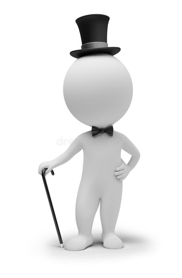 3d povos pequenos - cavalheiro ilustração do vetor