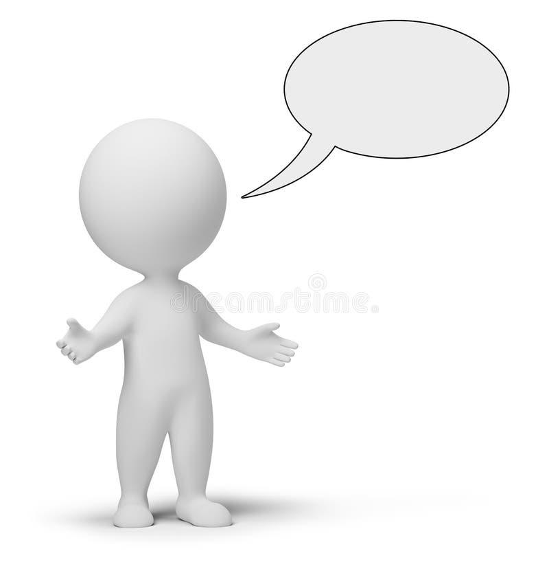 3d povos pequenos - conversa ilustração do vetor