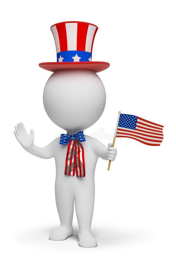 3d povos pequenos - Dia da Independência ilustração royalty free