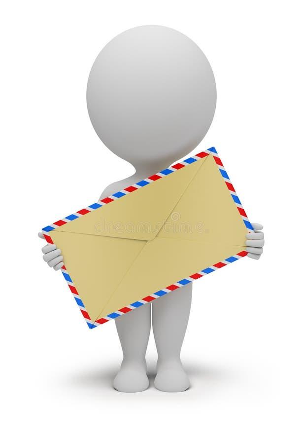 3d povos pequenos - envelope ilustração do vetor