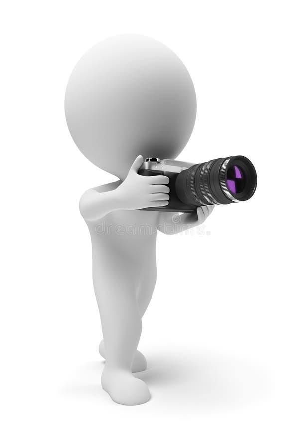 Download 3d Povos Pequenos - Fotógrafo Ilustração Stock - Ilustração de humorous, lente: 12800519
