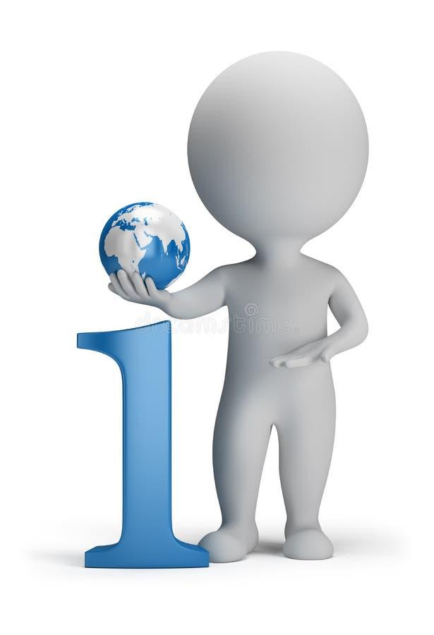 3d povos pequenos - informação ilustração stock