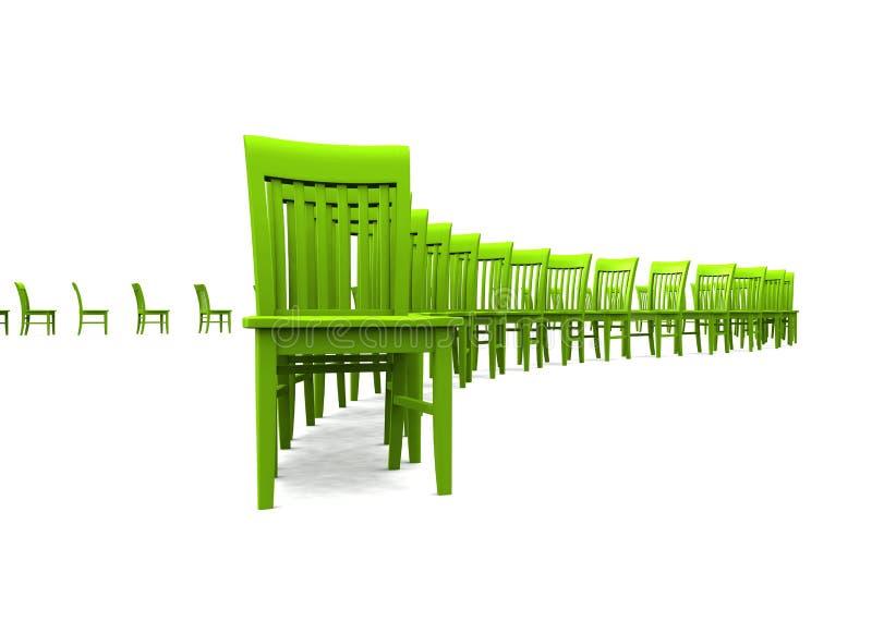3D présidences - vert 01 illustration libre de droits