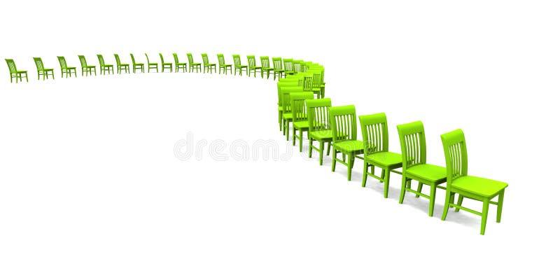 3D présidences - vert 02 illustration libre de droits