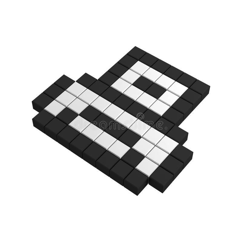 Download 3d print pixel icon stock illustration. Image of pointer - 20382897