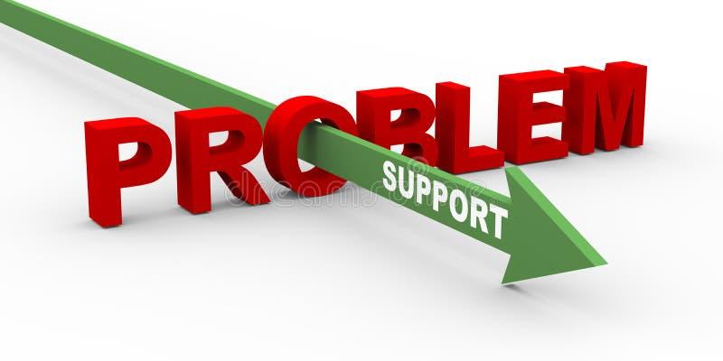 3d probleem en steun vector illustratie