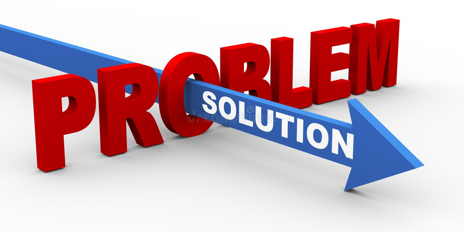 3d problem and solution vector illustration