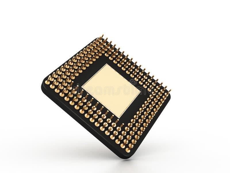3d processor. In white background vector illustration
