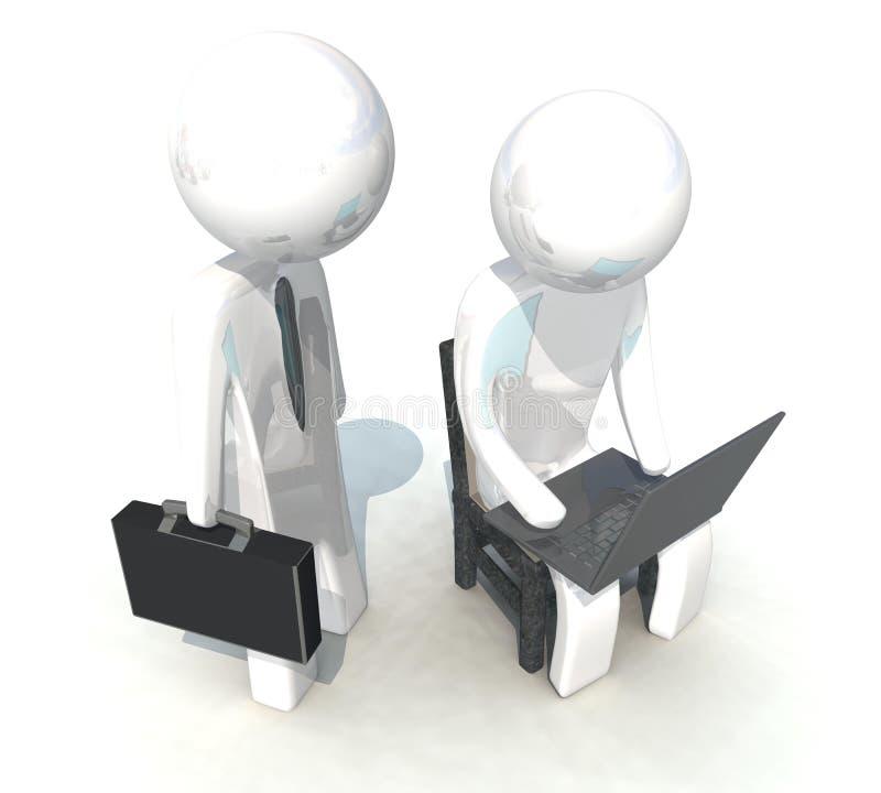 Download 3d Programmer And Businessman On White Background Stock Illustration - Image: 25119482