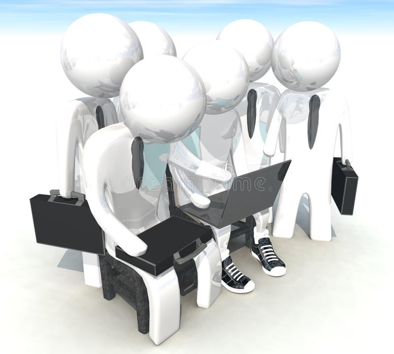 Download 3d Programmer And Businessman On White Background Stock Illustration - Image: 25119484