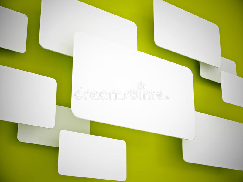 3d projekta renderingu signboard ilustracja wektor