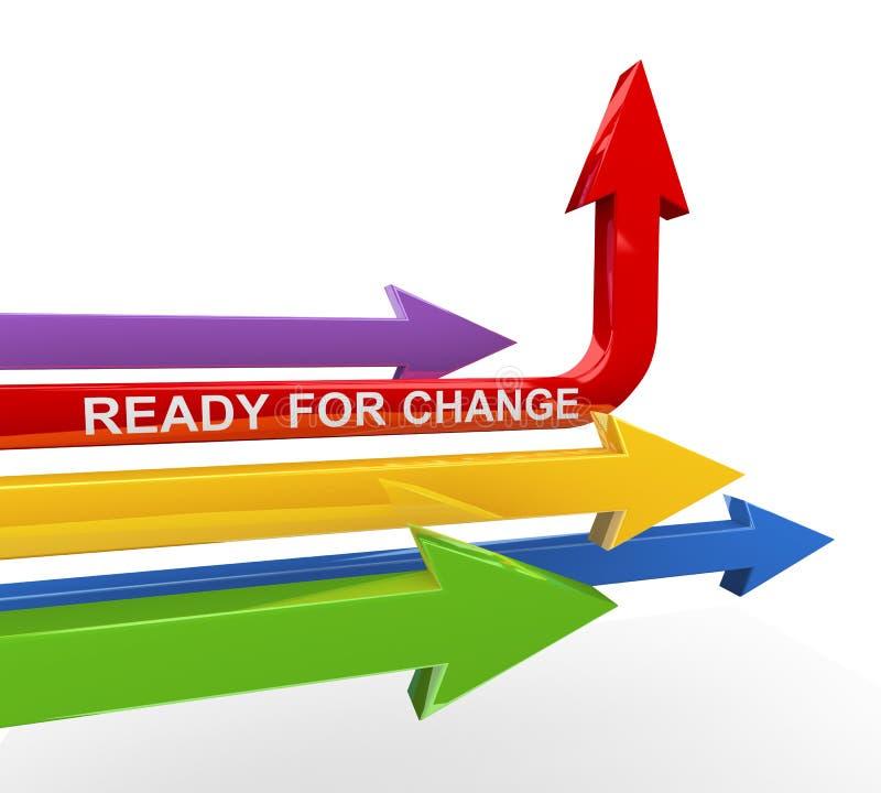 3d pronto per la freccia del cambiamento illustrazione vettoriale