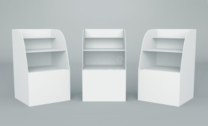 3d pudełko pokaz ilustracja wektor
