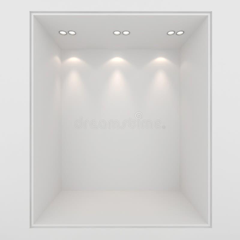 3d pusta gliny prezentacja odpłaca się gablotę wystawową ilustracji