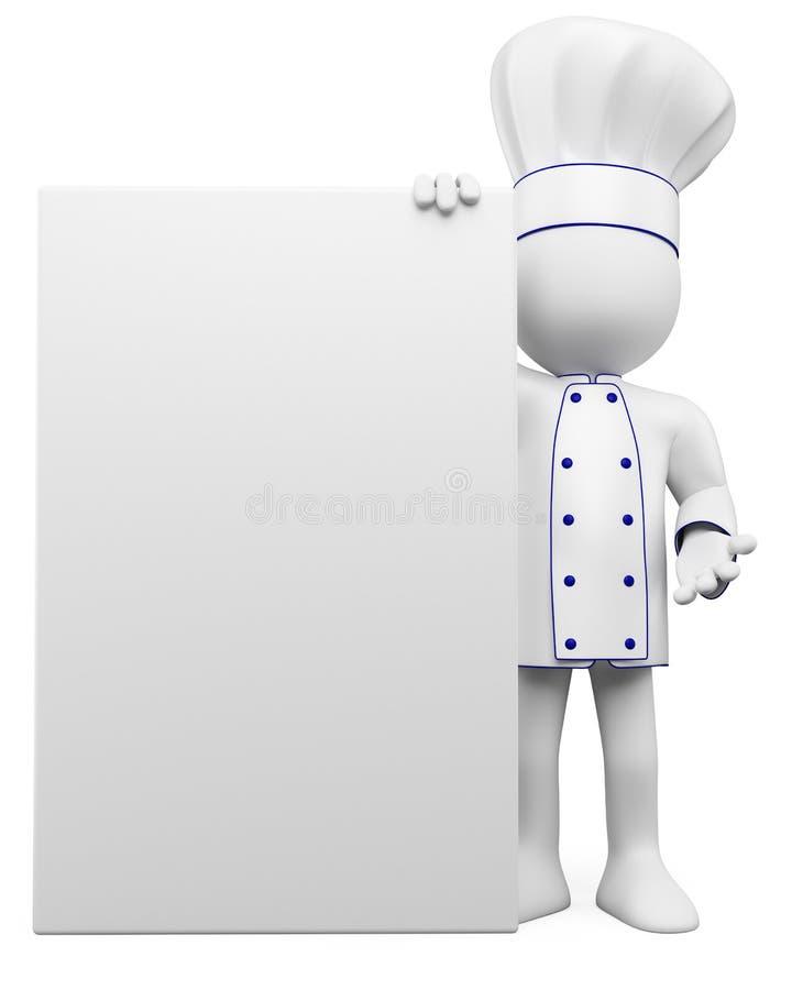 3d pustego miejsca kucharza plakat royalty ilustracja