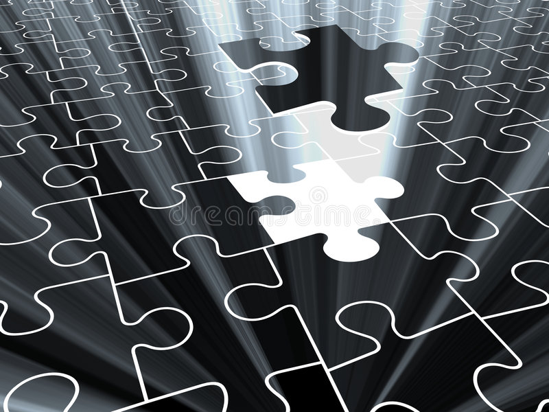 Download 3D Puzzle stock illustration. Image of connection, decisions - 1695765