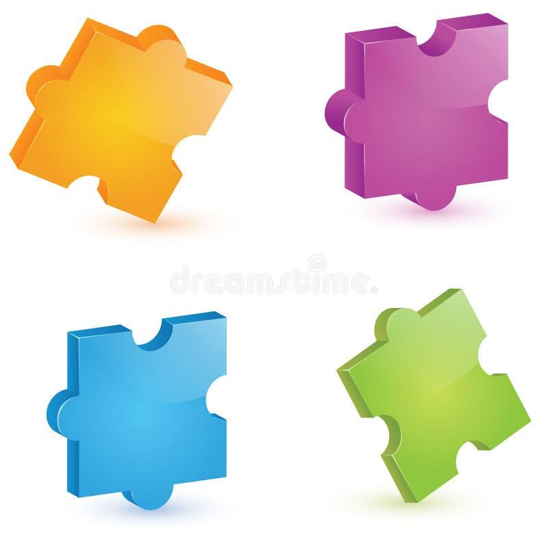 3D Puzzle vector illustration