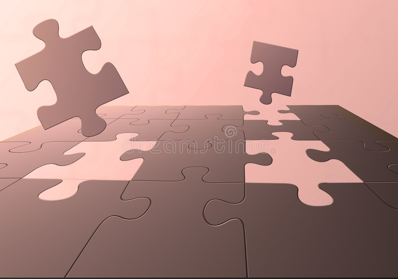 3D puzzle royalty free illustration