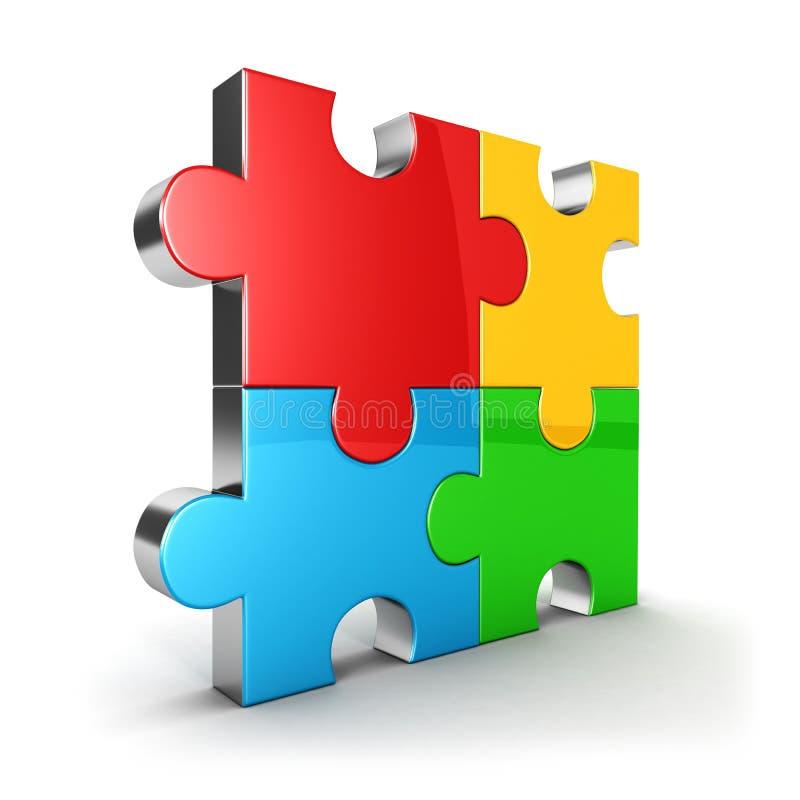 3d puzzle icon vector illustration