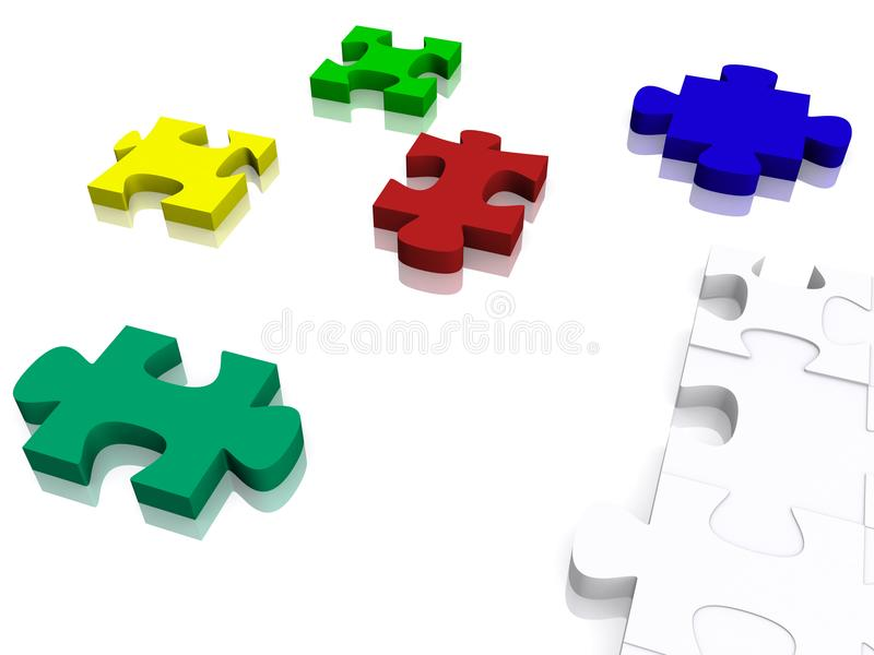 3d puzzle pieces stock photography