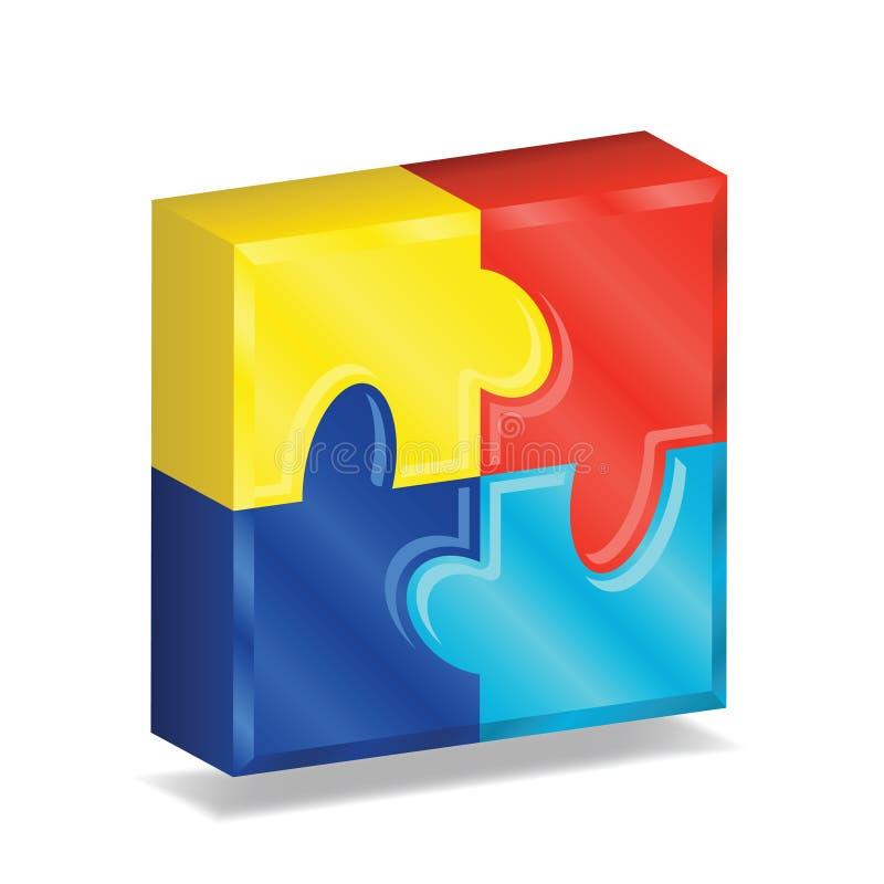 Free 3D Puzzle Square Stock Photo - 16997410